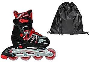 Epic deriva patines en línea negro y rojo grande w/todos los ...