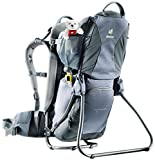 Deuter Kid Comfort 1 Lightweight Framed Child Carrier for Hiking, Titan/Granite
