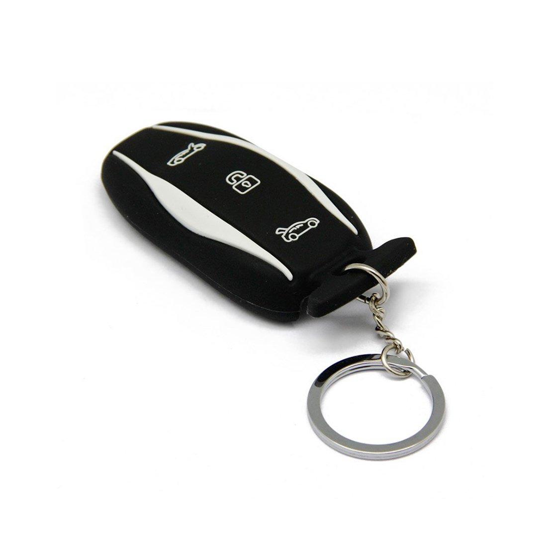 Keyring Key Case Cover Holder for Model S-Black Topfit Silicone Car Key Fob