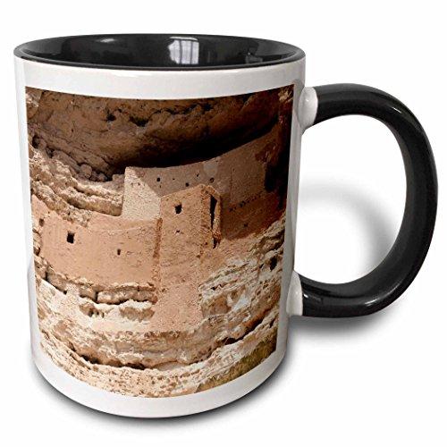 - 3dRose Danita Delimont - Jaynes Gallery - Ruins - USA, Arizona, Montezuma Castle NM. Sinagua Indian cliff dwellings. - 15oz Two-Tone Black Mug (mug_190544_9)