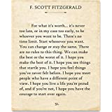 F. Scott Fitzgerald - For What It's Worth. - 11x14 Unframed Typography Book Page Print - Great Gift for Book Lovers