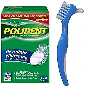 amazon com polident overnight whitening denture cleaner tablets