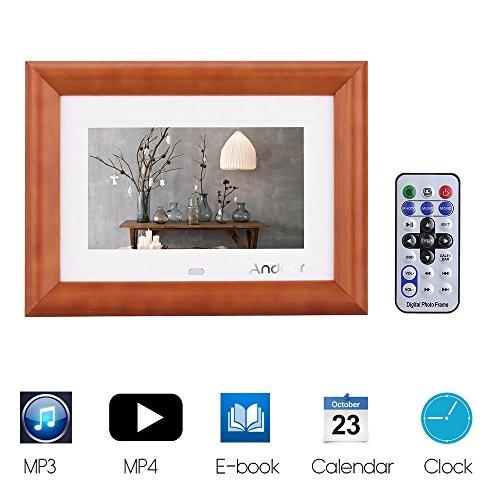 Andoer® 7 Pulgadas LCD Marco Digital de Fotos Reproductor de MP3 MP4 Película Calendario Reloj: Amazon.es: Electrónica