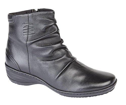 Mod Comfys Dames Leren Laarzen Zwart