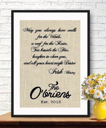 amazon com interesting house warming gift personalized irish