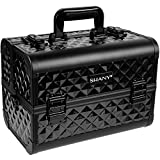 SHANY Premier Fantasy Collection Makeup Artists Cosmetics Train Case - Black Diamond