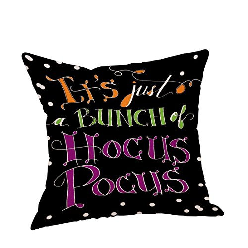 ✿Mose✿ Hot Sale !!!Cute Halloween Pillow Cases, Linen Sofa Pumpkin ghosts Cushion Cover Home Decor (Cute Halloween Home Decor)