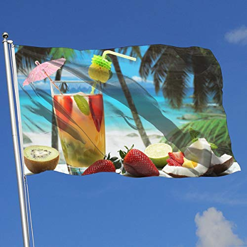 (DENETRI DYERHOWARD Fly Breeze 3 X 5 Foot Flag Fruity Cocktail Vivid Color and UV Fade Resistant Canvas Header and Double Stitched Garden)