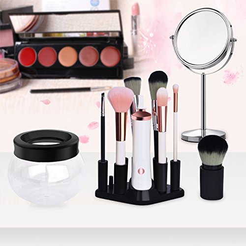 SKINOSM Electric Makeup Brush Cleaner Automatic Brush Cleaning Tool Deeply Clean & Dry for All Sizes of Brushes in Seconds Perfect Gift for Girls