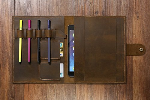 Erin Leather (PERSONALIZED Erin Condren LifePlanner serial planner leather cover case distressed brown leather portfolio organizer for LifePlanner LP005S)