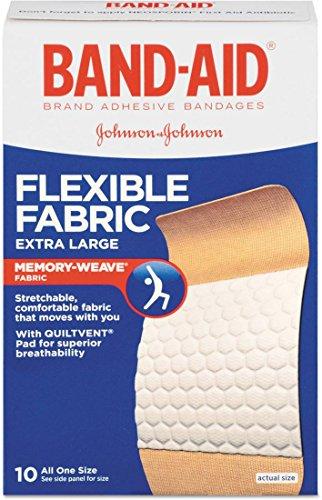 Flexible Wound (Band-Aid Adhesive Bandages, Flexible Fabric, Extra Large, 10 ct)