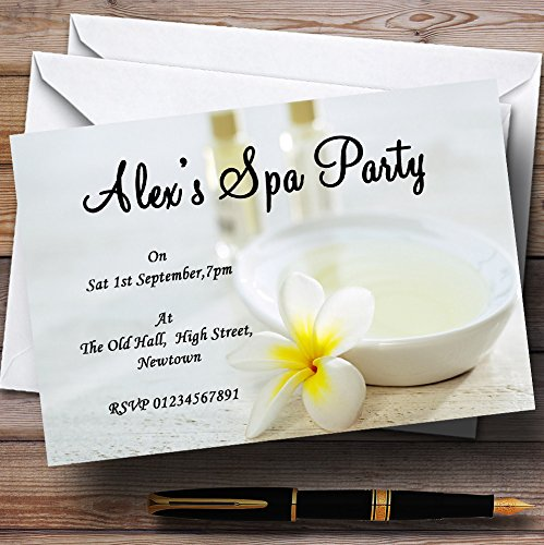 Makeover Spa Theme Personalized Birthday Party Invitations