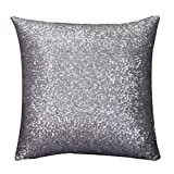 Software : HOT SALE! Napoo 2017 Glitter Sequins Pillow Case Cafe Home Decor Throw Cushion Covers (40cm40cm, Silver)