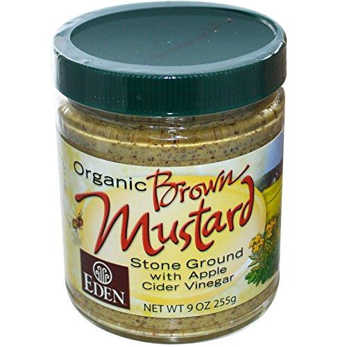 Eden Foods, Organic Brown Mustard, 9 oz (255 g) - 2pcs (Apple Cider Vinegar Eden)