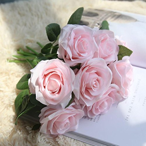 Inverlee 5Pcs Artificial Flowers Rose Floral Fake Flowers