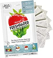 THE FRESHGLOW Co FRESHPAPER Food Saver Sheets for Produce, 8 Reusable Sheets (1 Pack), Keeps Fruits & Vege