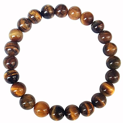Tiger Eye Gem Beads Tibetan Buddhist Prayer Mala Bracelet with Free Bag-0823