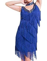 Women's Flapper Dress 1920s Gatsby Tassel Sway Cocktail Fringe Dress