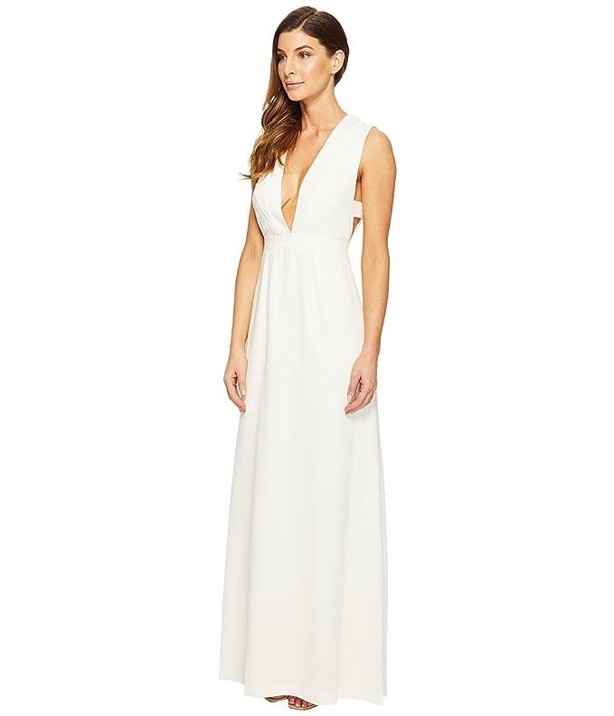 Amazon.com: Jill Jill Stuart Women\'s Deep V Side Cutout Satin Gown ...