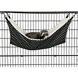 ProSelectA Polka Dot Cage Hammocks  -  Comfortable Polyester Hammocks for Cats and Small Dogs, Black and White