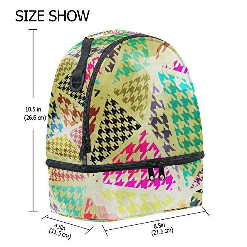 Bolsa pincnic FOLPPLY ajustable la hombro de geométrico con escuela correa para con para almuerzo el patrón de aislante TdqrH6wzdn