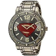 DC Comics Men's Quartz Metal and Alloy Casual Watch, Color:Gold-Toned (Model: BVS8009)