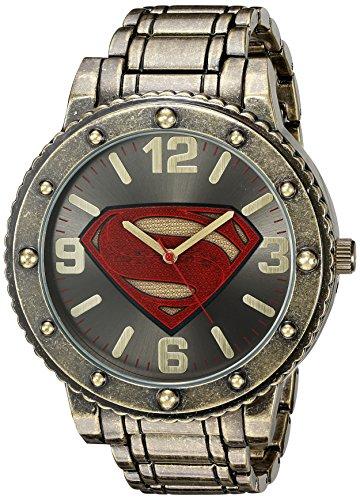 DC Comics Mens Quartz Metal and Alloy Casual Watch, Color:Gold-Toned (Model: BVS8009)