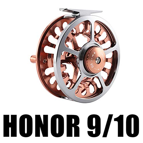 Tanfishes Honor Fly Fishing Reels 3/4 5/6 7/8 9/10 Machined Aluminum Full Metal Fly Fishing Wheel Saltwater Freshwater Fishing Honor 910 - Legend Fishing Fly Reel