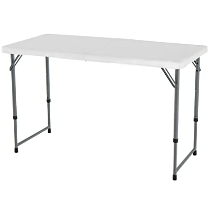 Beau Counter Height Folding Table White Portable Storage Kitchen Dining Indoor  Outdoor Picnic Coffee And EBook By