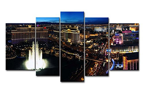 So Crazy Art 5 Panel Wall Art Painting Las Vegas Night Pictures Prints On Canvas City The Picture Decor Oil For Home Modern Decoration Print