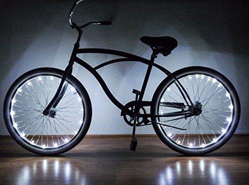 Neon Nightlife White LED Light Up Bike Wheel - White Tron Costume