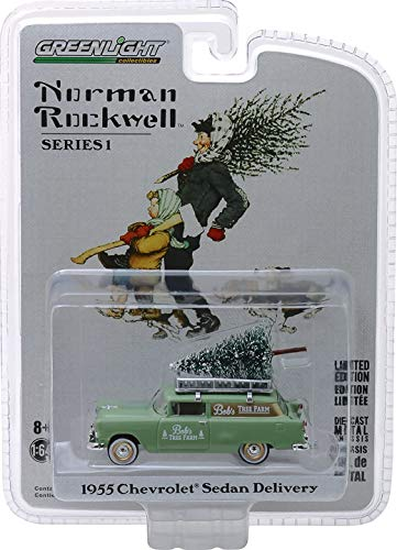 Greenlight - Norman Rockwell Collection Series 1-1955 Chevrolet Sedan Delivery Greenlight Collectibles