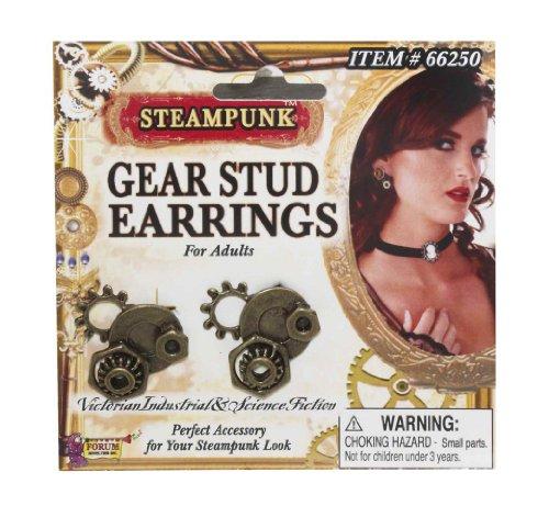 Forum Novelties Steampunk Gear Earrings