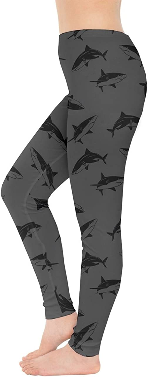CowCow Womens Space Stretchy Tights Sharks Hammerhead Sea Animal Leggings XS-5XL