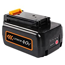 Enegitech Max 2.0Ah Replacement for Black & Decker 40V Lithium Battery LBXR36 Power Tools