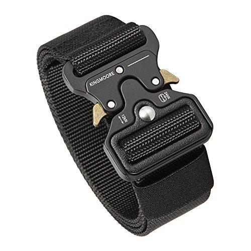 Men's Tactical Belt Heavy Duty Webbing Belt Adjustable Military Style Nylon Belts with Metal Buckle