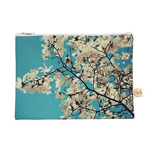"Kess InHouse ""White Magnolias"" Everything Bag, 12.5"" x 8...."