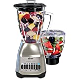 Oster Classic Series Blender PLUS Food Chopper – Nickel Plated – Glass Jar – BLSTSG-CFP-000