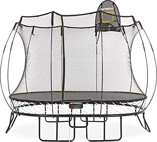 Springfree Trampoline - 8x11ft Medium Oval Trampoline with Basketball...