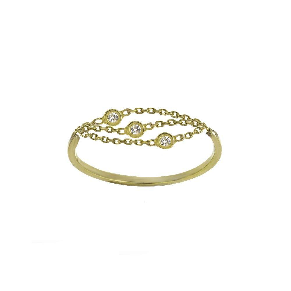 14kt White Gold 1//20Ct Diamond Multi Strand /& Bezels Ring 17 17-MF033866