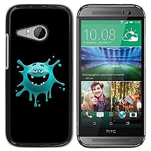 Be Good Phone Accessory // Dura Cáscara cubierta Protectora Caso Carcasa Funda de Protección para HTC ONE MINI 2 / M8 MINI // Funny Monster Face