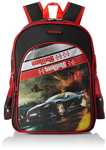 Simba 14 inches Black and Red Children's Backpack (BTS-2036)