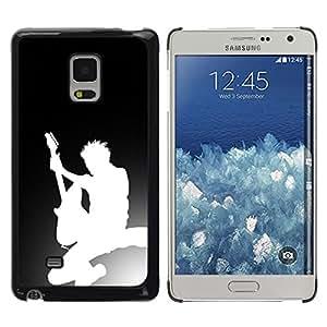 GIFT CHOICE / SmartPhone Carcasa Teléfono móvil Funda de protección Duro Caso Case para Samsung Galaxy Mega 5.8 /Guitar Silhouette/