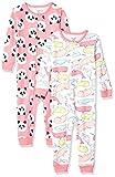 Carter's Baby Girls 2-Pack Cotton Footless Pajamas, Panda/Whale, 24 Months
