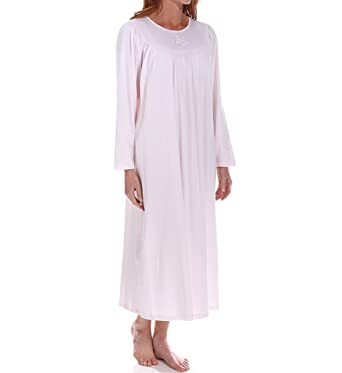 3aff15a5cf Calida 100% Cotton Knit Long Sleeve Nightgown at Amazon Women s Clothing  store