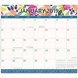 Orange Circle Studio 2019 Magnetic Monthly Calendar Pad, August 2018 - December 2019, Bold Blossoms