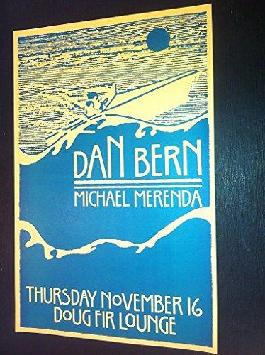 Dan Bern Portland Oregon Doug Fir Lounge Rare Original Folk Concert Tour Poster from ConcertPosterArt