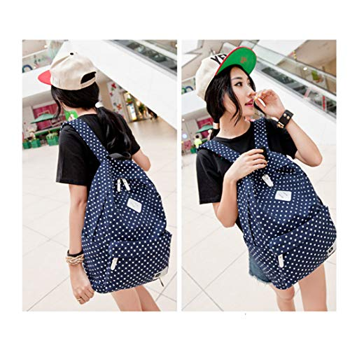 Laptop 6 15 Dot Rucksack Bag Polka Blue Deep inch Printed ZrErna