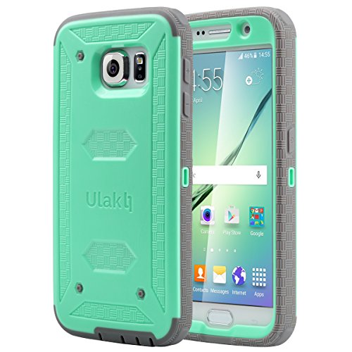 ULAK Galaxy S6 Case, [Drop Protection] Knox Armor [Rugged Defense] Heavy Duty with Shock Absorbent [Dual Layered Hybrid Case] Cover for Samsung Galaxy S6 - [Mint Green]