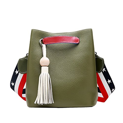Q0899 Handbag Shoulder Fashion Bag Leather Dissa Casual Women Green TxqwHpR